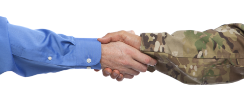 Image result for A Picture of shaking a Veterans hand